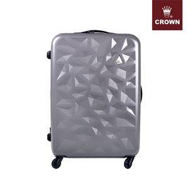 CROWN/皇冠 拉杆箱 C-F5138铝框八轮箱 行李箱 耐磨铝框旅行箱 铝框硬箱登机 20英寸银色