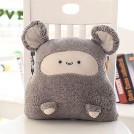 九洲鹿 家纺 卡通款抱枕被靠垫珊瑚绒午睡毛毯毛绒玩具 暖手捂插手抱枕毯 尺寸95*85cm