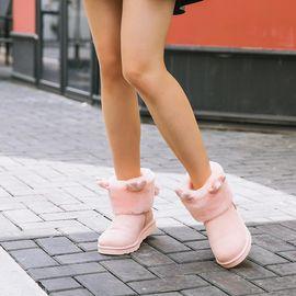 网易严选 女式鹿角可拆卸雪地靴