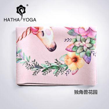 哈他 新品1.5mm防滑天然橡胶瑜伽垫女铺巾专业便携折叠运动瑜珈毯