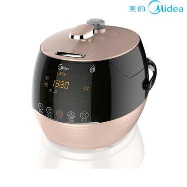 美的 压力锅 电压力锅双胆不锈钢预约5L家用智能饭煲 PSS5067H 金色