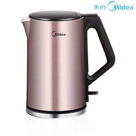 美的 电水壶 自动断电 304不锈钢家用保温烧水壶 HJ1510a 咖啡色