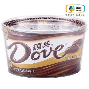 德芙 丝滑牛奶巧克力碗装252g(18*14g) 新老包装随机发货