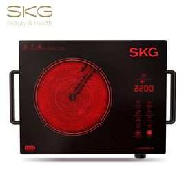 SKG 【不挑锅  无辐射】1645S电陶炉家用不挑锅7环双控  红色