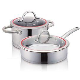 爱仕达(ASD)  不锈钢锅具二件套 煎锅 高汤锅  PS02B1Q