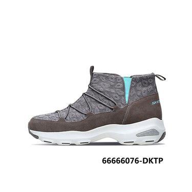 斯凯奇 Skechers女鞋 D'lites高帮熊猫鞋厚底运动休闲鞋66666076
