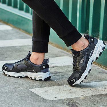 斯凯奇 Skechers SNH48D'LITES休闲运动情侣熊猫鞋厚底增高66666064