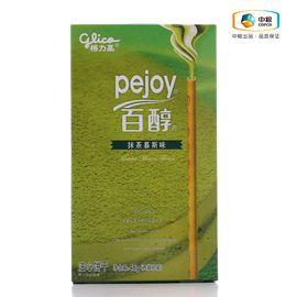 格力高 百醇(抹茶慕斯味 盒装 48g) 精选原料 香脆醇浓