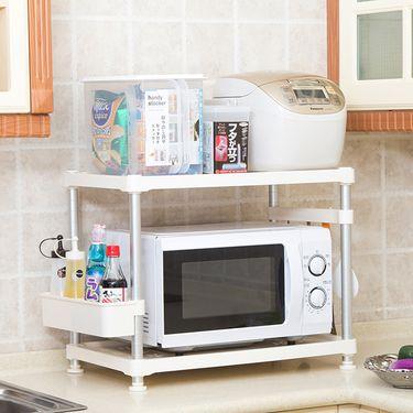 NISHIKI 日本厨房微波炉收纳架 烤箱置物架 储物架 收纳架 厨具锅架