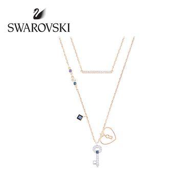 Swarovski 施华洛世奇 Glowing Key 心形钥匙和锁二合一项链套装 5273295