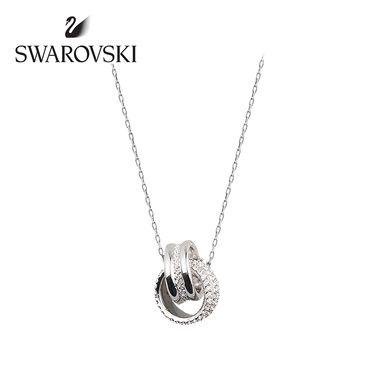 Swarovski 施华洛世奇 FURTHER 双圈项链时尚精致立体编结锁骨链配饰  5240524