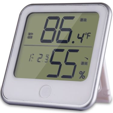 得力 LED电子温湿度计 8959