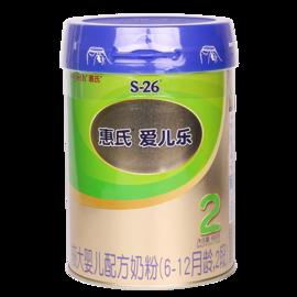 惠氏 (Wyeth)S-26金装爱儿乐奶粉2段 6-12月较大婴儿配方 900克(罐装)