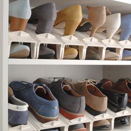 WORLD LIFE 和匠 鞋架2个装 鞋子收纳架 双层可调节置鞋架 鞋托整理架
