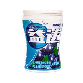 益达 木糖醇无糖口香糖沁香蓝莓40粒(瓶装  56g)新老包装随机发货