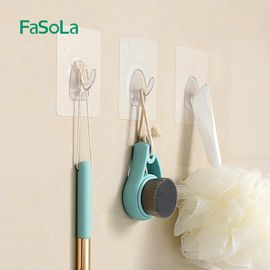 FASOLA挂钩强力粘胶无痕免钉门后衣服承重吸盘创意厨房墙壁挂墙上不粘钩