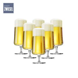 双立人 代理 肖特圣维莎高脚啤酒杯6只装 德国进口 无铅水晶玻璃