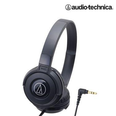 铁三角 【官方旗舰店】头戴式 重低音 HIFI 线控带麦便携手机耳机 S100 黑绿色