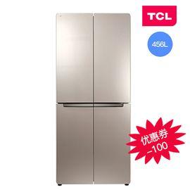 TCL BCD-456KZ50 456升 冷藏自动除霜 电脑温控 十字对开门冰箱(流光金)