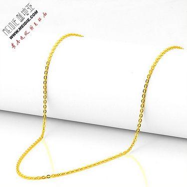 Meidie 美地亚 珠宝足金黄金项链O字链 GN0002 金重:约3.00g-4.00g