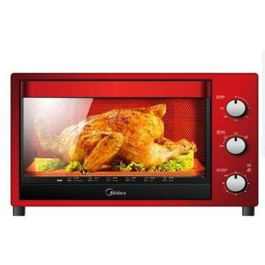 美的 多功能家用电烤箱 四层烤架 32L大容量烘焙箱T3-321C