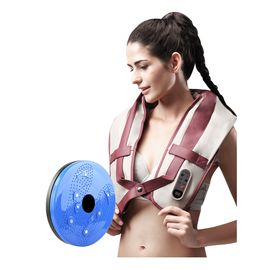 居康 按摩颈部腰部背部男女通用按摩披肩+磁石扭腰盘 JFF004M1红-001N 蓝色