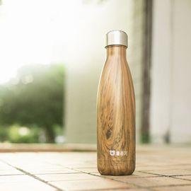 杯具熊 柚木可乐杯 保温杯艺术可乐杯 不锈钢杯子 户外运动水壶创意车载水杯 原装原封