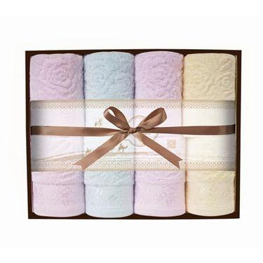洁丽雅 长绒棉雅毛巾8条双层礼盒套装  简雅(5)