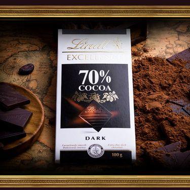 瑞士莲 法国进口 特醇排装70% 可可黑巧克力100g(特惠)