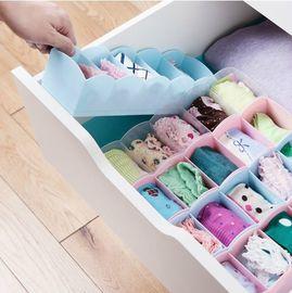 馨乐屋 5格分类整理盒 内衣内裤收纳盒收纳箱 4个装 颜色随机