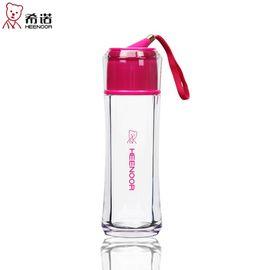 希诺 塑料杯带盖便携杯子大容量时尚创意女士水杯学生可爱防漏口杯 颜色随机自选备注 8012