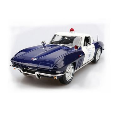 美驰图 MAISTO美驰图  雪佛莱科尔维特警车1:18合金仿真汽车模型