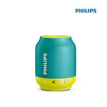 飞利浦 (PHILIPS)BT25无线蓝牙音箱 便携迷你口袋音箱 兼容苹果/三星手机/电脑小音响 蓝色