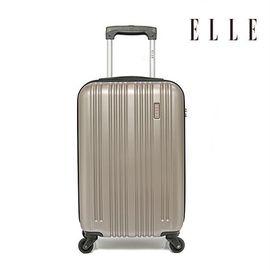 ELLE防刮耐磨20寸登机拉杆箱E36F2022008香槟色