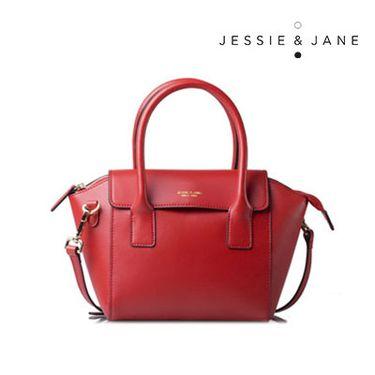 Jessie&Jane 及简新款欧美风时尚牛皮单肩手提包TMJ14FF1081