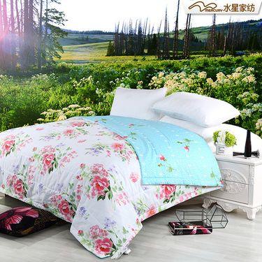 水星家纺 全棉印花夏凉被空调被薄被-芬芳季节(200x230cm)