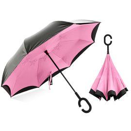 天堂 伞  3026E双层全遮光黑丝亮胶直杆晴雨伞翻转伞汽车伞反向伞(颜色随机)