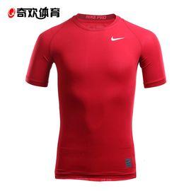 NIKE耐克男子新运动训练跑步速干衣健身服短袖T恤紧身826593  奇欢体育