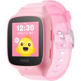 360 儿童手表 彩色触屏版 防丢防水GPS定位 360儿童卫士 手表 SE 2 Plus W605 珊瑚粉 原封 现货速发