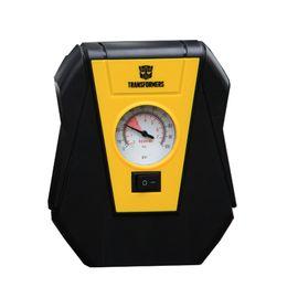 变形金刚大黄蜂指针式充气泵 便携式车载充气泵 快速充气