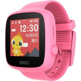 360儿童电话手表 彩色触屏版 防丢防水GPS定位 儿童手机 360儿童手表SE 2代 W608 樱花粉