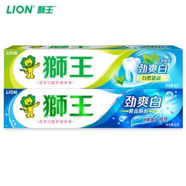 狮王  经典款劲爽白牙膏90g