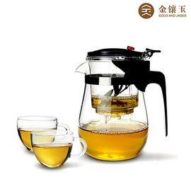 金镶玉 玻璃茶具 飘逸杯1号套装
