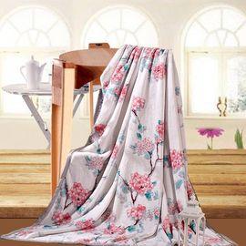 水星家纺 (MERCURY) 法兰绒毯 笑春风(150*200cm)