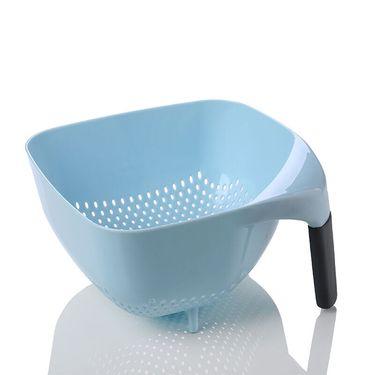 SP SAUCE带手柄沥水篮厨房蔬菜沥水篮加厚水果清洗收纳筐洗菜盆