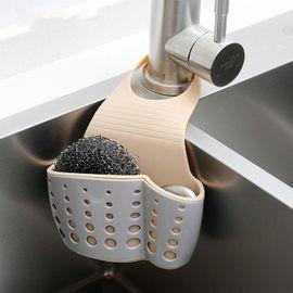 SP SAUCE 日本厨房水龙头可挂式按扣水槽收纳蓝沥水篮挂篮厨房置物架海绵沥水架