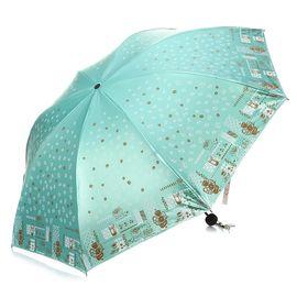天堂 伞 33131E 摩卡人生双面柔粉彩胶三折晴雨伞太阳伞遮阳伞(颜色随机)