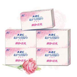 ABC 卫生湿巾男女私处护理湿巾18片*5盒