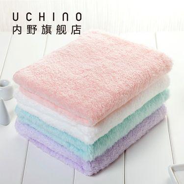 UCHINO 日本内野 零售同款 棉花糖小毛巾方巾 婴儿童毛巾 吸水毛巾 纯棉 柔软