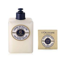 欧舒丹 (L'OCCITANE)乳木果丰凝沐浴洗发乳250ml+乳木果牛奶味香皂100g